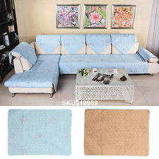 New Sofa Couch Slipcovers Quilted Embroidery Sectional Furniture Protector Cover