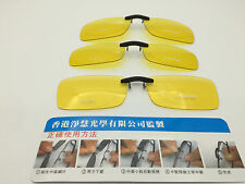 HD night driving vision sun glasses yellow lens  clip on shoot new polarizer