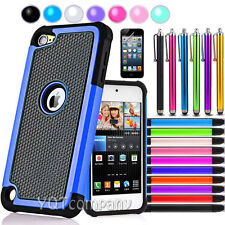 Hybrid Rugged Impact Rubber Matte Hard Case Cover for Apple iPod Touch 4 4th Gen