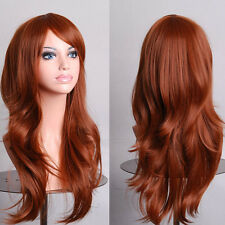 New Style Womens 70cm Long Big Wavy Wig Hair Heat Resistant Cosplay Wig JF4