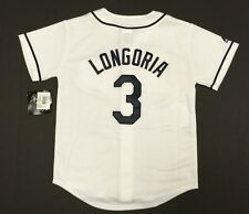 Tampa Bay Rays Official Majestic MLB Evan Longoria 3 Youth Jersey New