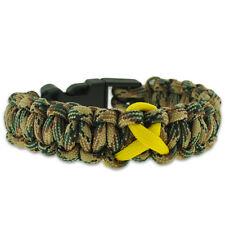 Support Our Troops Camo Paracord Survival Military Bracelet