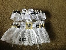 Pittsburgh Pens Penguins Hockey NHL Bridal Garter Set Regular or Plus size