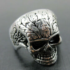 Unique Gothic Lettering Skull 316L Stainless Steel Finger Ring Jewelry