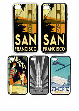 Travel Destination Posters 2 - Printed Rubber and Plastic Phone Cover Case