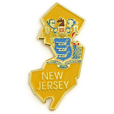 PinMart's State Shape of New Jersey  and New Jersey Flag Lapel Pin