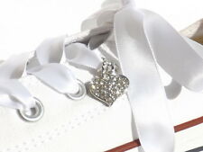 Extra Bling for your Customised Converse Diamond & Coloured Crystal Heart Charms