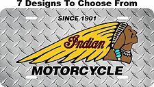 Indian Motorcycle License Plate Auto Car Tag Metal Aluminum FREE Shipping LPCY01