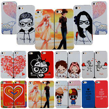 Back Fashion Couple Patterned Hard Case Cover For Apple iPhone 4S 5S 6 6Plus