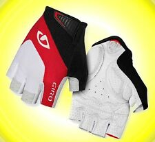 Monaco Red White Black Short Finger Large L XL Giro M S Cycling Gloves Glove NEW