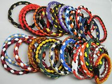 2 Paracord Bracelets  Matching NCAA College Team Colors Fan Essential Trendy