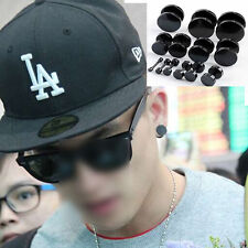 Fashion Round Barbell Stainless Steel Men's Earring Punk Gothic Ear Studs 4 size