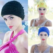 Durable Flexible Swim Caps Adult Polyester Swimming Swim Bathing Hat LATEX