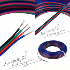 Wholesale 4Pin RGB Extension Wire Cable Cord For 3528/5050 RGB LED Strips Lights