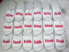 Personalised slippers , wedding bride, hen party , bridesmaid gift novoltey