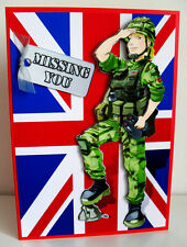 HANDMADE PERSONALISED SOLDIER/ARMY/FORCES/FEMALE BIRTHDAY/AGE GREETING CARD