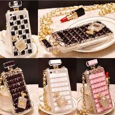 iPhone/Samsung Luxury Crystal Diamond Perfume Bottle Shape Handbag Case Cover
