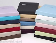 Polly-Cotton Fitted Bed Sheets Percale Quality Cotton 180 Thread Count Non-Iron