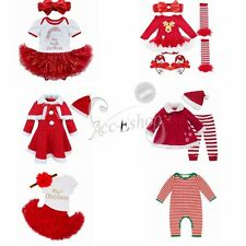 2/4Pcs Baby Girls Bowknot Dress + Pants/socks Set Kids Clothes Outfits Romper