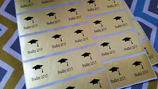 60 Clear/Silver/Gold Round Stickers-Graduation Invitation Envelope Seals, Favors