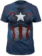 Avengers Age Of Ultron Captain America Suit Navy Marvel Comics T Tee Shirt S-2Xl