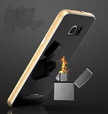 Luphie Metal Bumper Gorilla Glass Cover Slim Case for Samsung Galaxy S6 /S6 Edge