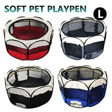 Large Portable Pet Playpen Puppy Dog Cat Play Pen Soft Crate Cage Enclosure Tent