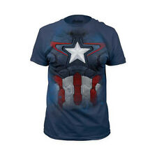 Captain America Suit Avengers Marvel Licensed NWT Adult Costume T-Shirt
