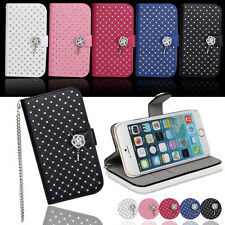 Leather Flip Card Holder For Apple iPhone 4 5 6G/6 Plus Wallet Case Cover Stand