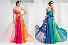 Beaded women chiffon party bridesmaid formal dresses stock size 6 8 10 12 14 16
