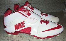 NEW Mens Sz 15 NIKE Zoom Huarache III 3 Lacrosse Cleats Shoes White Red