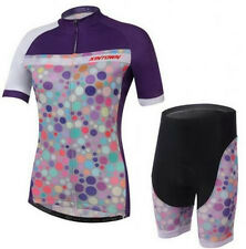 Colorful Women Breathable Sports Cycling Bike Bicycle Jersey+ (Bib) Shorts S-3XL