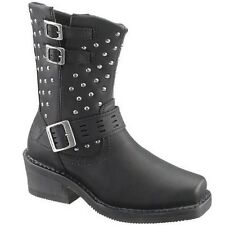 Harley Davidson Ladies Shirley Black Studded Boot D83714 New