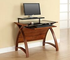 Modern Office Desk Computer Writing Table Wood Glass Home Furniture Workstation