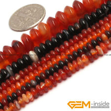 Natural Colorful Agate Gemstone Rondelle Spacer Beads For Jewelry Making 15""
