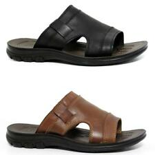 Mens Leather Sandals New Summer Beach Walking Comfort Flip Flop Mules Shoes Size