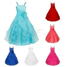 Flower Girl Rainbow Dress Toddler Baby Wedding Party Pageant Tulle Dresses 2-8
