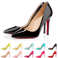RB302 Ladies Pattern HIGH HEEL POINTED CORSET STYLE WORK PUMPS COURT SHOES UK2-9