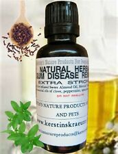 NATURAL HERBAL GUM DISEASE REMEDY, EXTRA STRONG You Choose 10 ml or 1 oz/30 ml