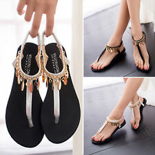 Sexy Women Casual Sparkling Ankle Strap Flat Sandals Shoes & Flip Flops Slippers