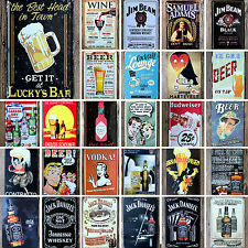 20*30CM Wine Beer Tavern Garage Metal Sign Tin Poster Pub Bar Cafe Shop Wall