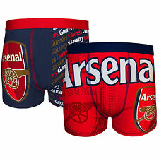 Arsenal Football Club Official Soccer Gift 2 PAIR Pack Mens Boxer Shorts