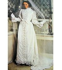 VOGUE 2349 Bellville Victorian Steampunk Bridal Gown Sewing Pattern Sz 10 or 16