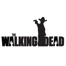 "THE WALKING DEAD Rick with gun 8"" VINYL DECAL STICKER no2"