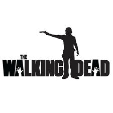 "THE WALKING DEAD Rick with gun 8"" VINYL DECAL STICKER"