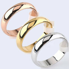 Newest 4.5mm Width Titanium Steel Ring Band Wedding Engagement Lover Rings Plain