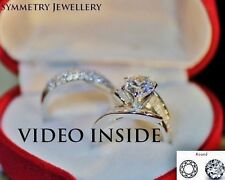 His and Hers 6.8 Carat  3 Pieces  Wedding Set Engagement Ring Made in Italy d g