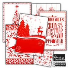 """COUTURE CREATIONS Christmas Embossing Folder WRAPPED IN JOY COLLECTION 5"""" X 7"""" *"""