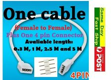 RGB led strip light extension cable 4 pins connector plug female/male 5050 3528