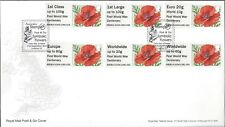 GB 2014 POST & GO FDC YORK STAMPEX NMRN STAFFORD WINTER GREENERY POPPY
